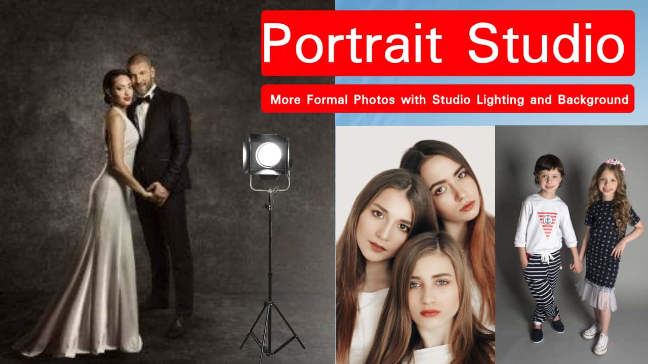 Full Portrait Studio at your wedding or party