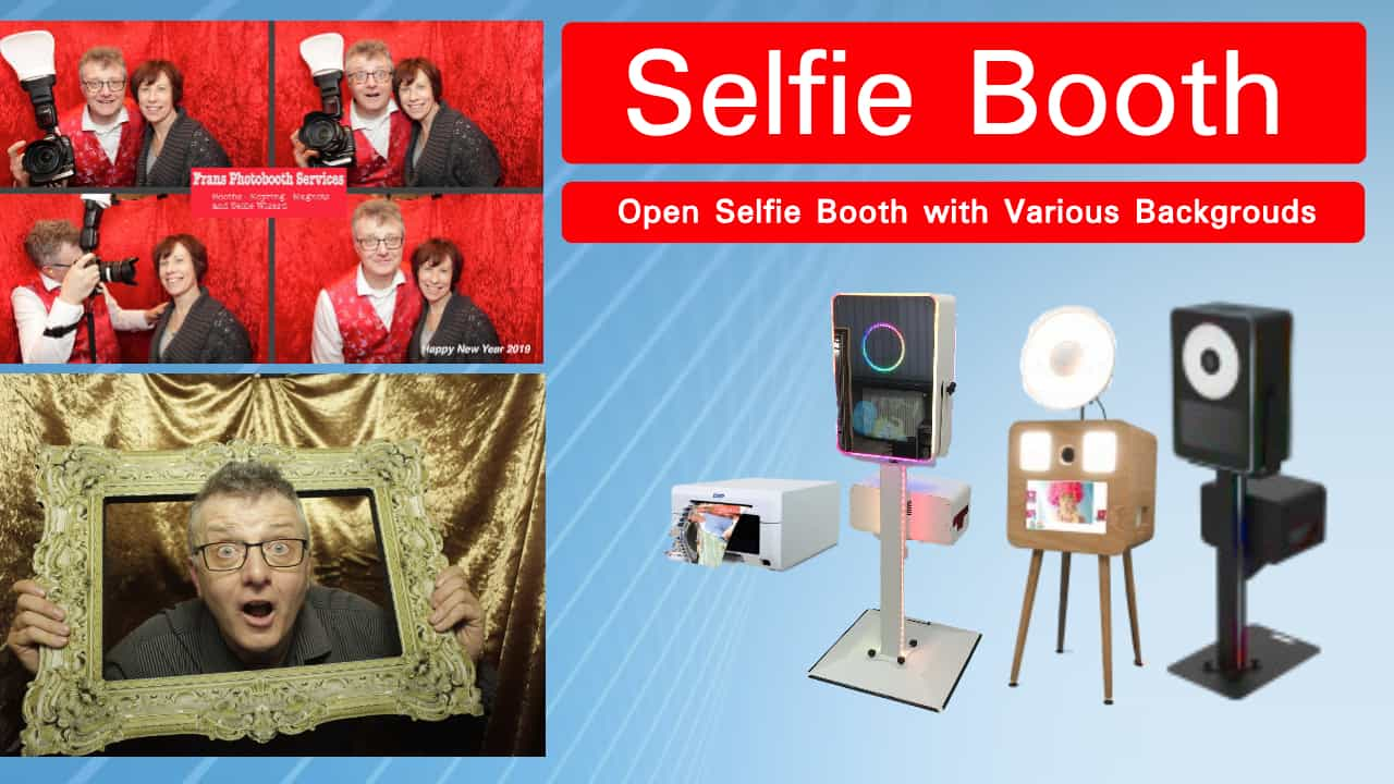 Open Selfie Booth with Printing onsite