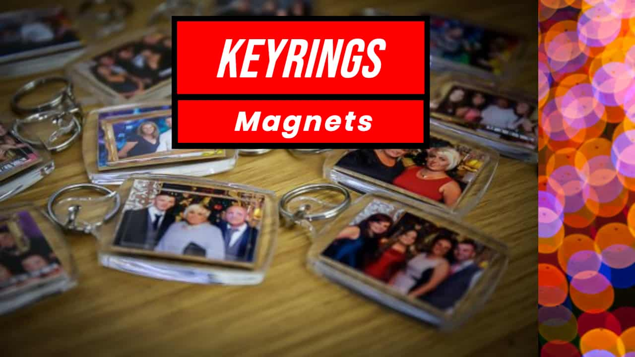 Keyring and Fridge Magnet Service with photography and Printing onsite