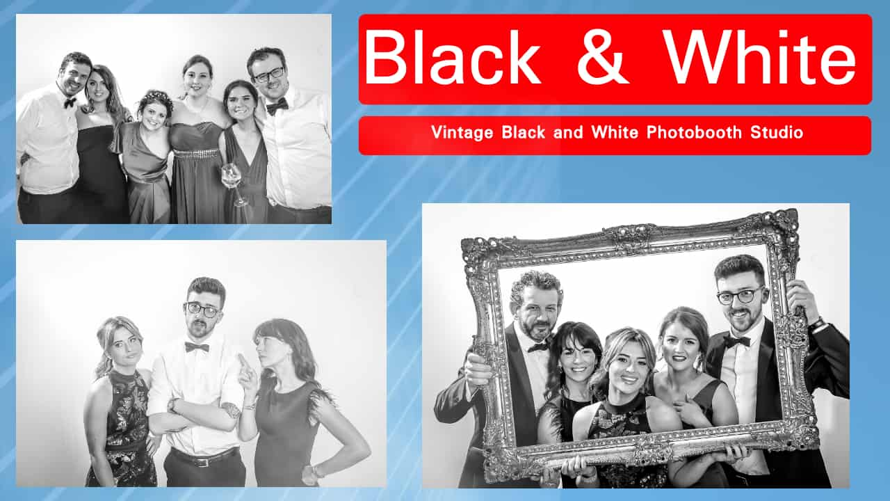 Black and White Photobooth