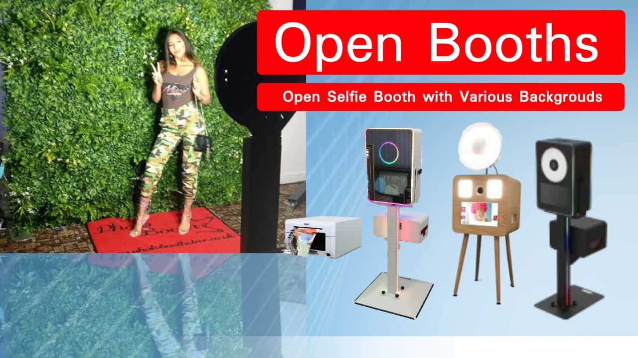 OPen Photobooth Background with Printing